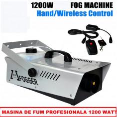 LICHIDARE STOC! MASINA DE FUM PROFESIONALA 1200WATT,TELECOMANDA WIRELESS SI FIR!