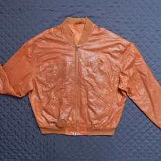 Geaca piele naturala New York Real Leather; marime 58, vezi dimensiuni; ca noua - Geaca barbati, Culoare: Din imagine