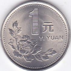 Moneda China ( Republica Populara ) 1 Yuan 1992 - KM#337 UNC, Asia