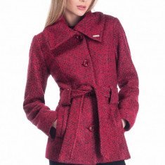 Palton Anamaria - Bleu - Palton dama Raspberry, Marime: 42, 40, 36