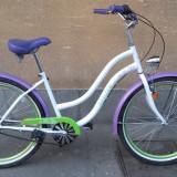 Bicicleta de oras Cruiser Neuzer Picnic Flower / City Bike + cos de nuiele CADOU