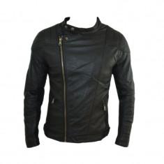 Geaca Barbati Zara David Beckham Office Casual Imblanita Cod Produs 9095, Marime: S, M, L, Culoare: Negru, Piele
