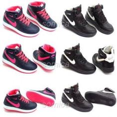 Nike Force One copii, Nou 2017 - Ghete copii Nike, Marime: 31, 32, 33, 34, 35, Culoare: Bleumarin, Negru, Roz, Unisex, Piele sintetica