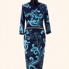 Rochie dama. Model Norina - Albastru - Rochie de zi PerDonna, Marime: 46, 48, 50, 3/4