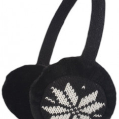 Kit casti aparatori urechi Forever negru + cablu cu mufa de 3.5mm si microfon - Husa Telefon
