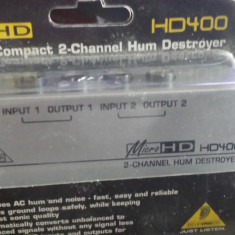 Procesor de sunet Behringer Micro HD 400 Hum Destroyer - Procesor de voce