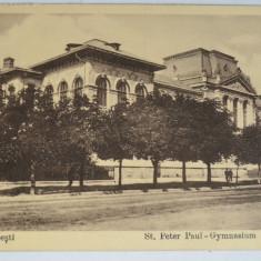 Carte postala veche Ploesti / Gimnaziu Sf. Petru Paul - interbelica - Carte Postala Muntenia dupa 1918, Ploiesti, Necirculata, Fotografie