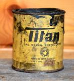 Cutie veche vopsea pentru sobe TITAN 250gr. anii ' 70