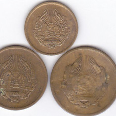 Moneda Romania ( R.P.R. ) 1, 3 si 5 Bani 1952 - KM#81.1-83.1 VF+ (set 3 monede)