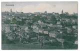 3553 - Bucovina, CERNAUTI,  Panorama - old postcard - used - 1918, Circulata, Printata