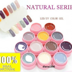 Set 12 Geluri UV Gel Color Canni - Seria Natural, Gel colorat