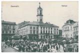 3554 - Bucovina, CERNAUTI, Market - old postcard - used - 1914, Circulata, Printata