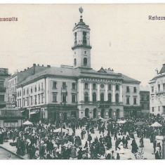 3554 - Bucovina, CERNAUTI, Market - old postcard - used - 1914 - Carte Postala Bucovina 1904-1918, Circulata, Printata