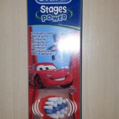 Set 4 rezerve periuta electrica Oral B Stages Power red cars