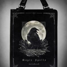 Geantă gotică în formă de carte Magic Spells - Gentuta Copii