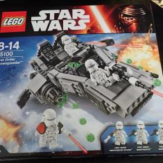 Lego Star Wars 75100 First Order Snowspeeder Ordinul Întâi 444piese 3 minifiguri, 6-10 ani