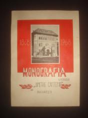ALEXANDRINA POPA - MONOGRAFIA LICEULUI DIMITRIE CANTEMIR DIN BUCURESTI 1868-1968 foto