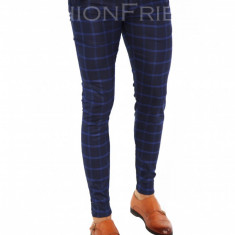 Pantaloni tip ZARA bleumarin - pantaloni barbati - pantaloni office - 7371, Marime: 29, 30, 34, 36, 38, Culoare: Din imagine
