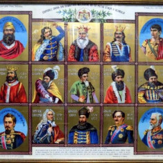 Invatatura prin imagini Chipurile unora din domnitorii Moldovei cu cei patru stalpi ai neamului - Pictor roman