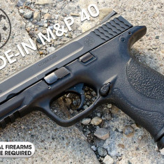 Pistol SMITH & WESSON M&P40 [ FULL METAL Slide ] Cybergun- 700g/CO2 Airsoft - Arma Airsoft