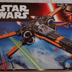 Lego Star Wars 75102 Poe's X-Wing Fighter Nava Spatiala 717piese 3 minifigurine, 6-10 ani