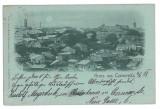 3555 - Litho, Bucovina, CERNAUTI,  Panorama - old postcard - used - 1898, Circulata, Printata