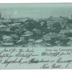 3555 - Litho, Bucovina, CERNAUTI,  Panorama - old postcard - used - 1898, Circulata, Printata