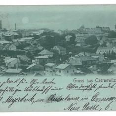 3555 - Litho, Bucovina, CERNAUTI, Panorama - old postcard - used - 1898 - Carte Postala Bucovina pana la 1904, Circulata, Printata