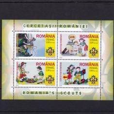 ROMANIA 2005 LP 1686 b CERCETASII ROMANIEI BLOC DANTELAT MNH - Timbre Romania, Nestampilat