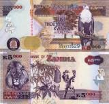 ZAMBIA 5.000 kwacha 2008 UNC!!!