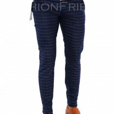 Pantaloni tip ZARA bleumarin - pantaloni barbati - pantaloni office - 7370, Marime: 29, 33, 34, Culoare: Din imagine