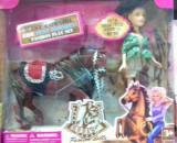 Papusa Cowgirl cu calut