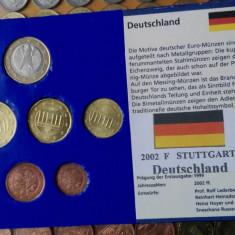 Monede euro set Germania 2002-F-monetaria Stuttgart, Europa
