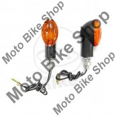 MBS Set semnalizari JMP Cateye, 12V/21W, brat scurt, prindere M10, negru, Cod Produs: 7054893MA - Semnalizare Moto