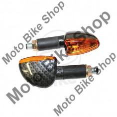 MBS Set semnalizari Shin Yo Mini Arrow, Carbonlook, 12V/21W, Cod Produs: 7050586MA - Semnalizare Moto