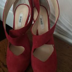 Sandale Guess - Sandale dama Guess, Culoare: Rosu, Marime: 37