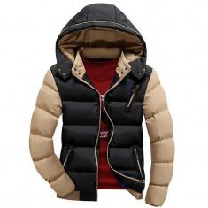 Geaca slim de iarna pentru barbati cu gluga detasabila model 2016 - Geaca barbati, Marime: XXL, XXXL, Culoare: Din imagine, Poliester