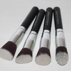 Set 4 Pensule negre fata cea mai bune calitate Fraulein38, Kabuki - Contouring - Pensula machiaj
