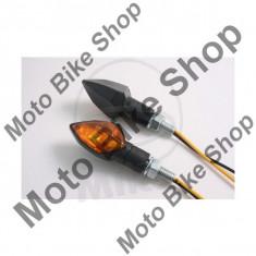 MBS Set semnalizari Shin Yo Kite, 12V/6W, brat scurt, prindere M8, negru, Cod Produs: 7050067MA - Semnalizare Moto