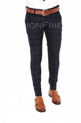 Pantaloni bleumarin - pantaloni barbati - pantaloni office - 7368 A-1 foto