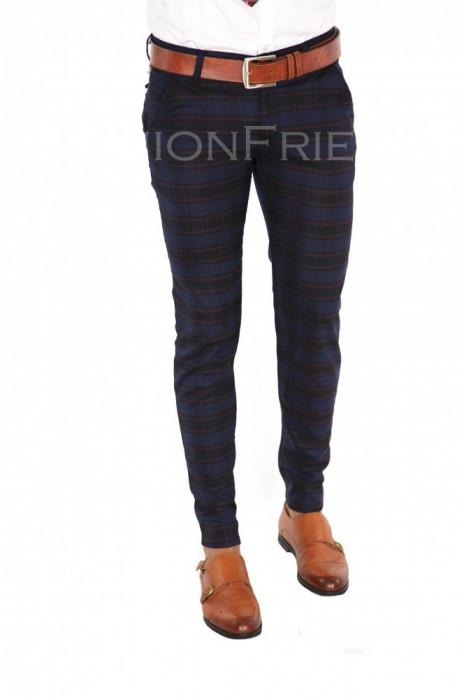 Pantaloni bleumarin - pantaloni barbati - pantaloni office - 7368 A-1