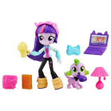 My little pony Petrecere in pijama Mini papusa Twiligt Sparkle si Spike B6359 Hasbro