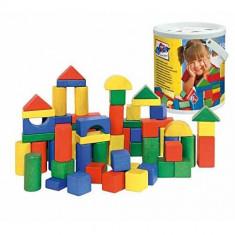 Galeata cu cuburi din lemn 45 piese