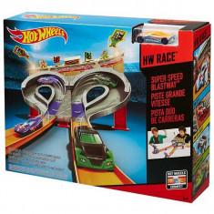 Jucarie pista Hot Wheels Cursa de mare viteza CDL49 Mattel - Masinuta