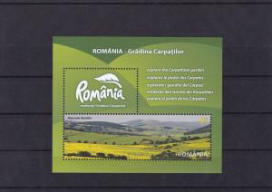 ROMANIA 2010  LP 1874  ROMANIA-GRADINA CARPATILOR COLITA DANTELATA MNH