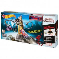 Jucarie Hot Wheels Pista Spiderman contra Doctor Octopus CDK10 Mattel - Masinuta