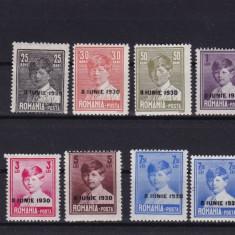 ROMANIA 1930, LP 83 f, MIHAI SUPRATIPAR 8 IUNIE 1930, USOARE URME SARNIERA - Timbre Romania, Nestampilat