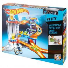 Jucarie Hot Wheels - Parcare cu lift Speedtropolis CDL36 Mattel - Masinuta