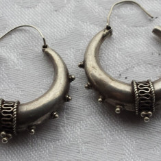 CERCEI argint CREOLE AJANTA INDIA etnic TRIBALI vechi SUPERBI impunatori VINTAGE