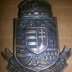 Emblema veche ,metalica,Ungaria,Magyarorszag,Hungary,kiralyert es hazaert!